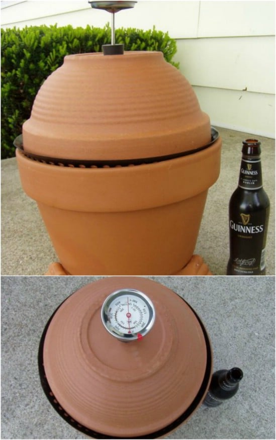 DIY Terra Cotta Barbecue Smoker