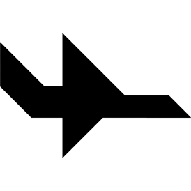Tangram puzzle 58 : Plane - Visit http://www.tangram-channel.com/ to see the solution to this Tangram