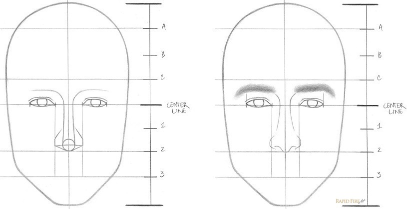 How to draw a face Step 5