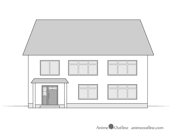 House drawing front view