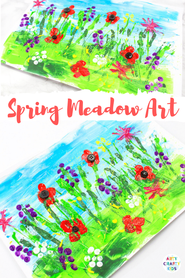 Spring Meadow Art Painting for Kids