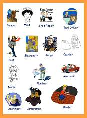 Occupations vocabulary for kids