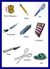 Classroom Items Vocabulary For Kids