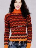 Полосатый пуловер женский спицами – Женские джемпера в полоску спицами – 7 схем вязания с описанием и видео