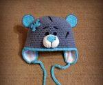 Шапочка мишка – Шапка мишка Тедди крючком — схема, описание, видеоурок