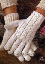 Узор для перчаток спицами – схемы и виды узоров, описание