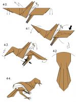 Оригами ворона схема – Оригами ворона — схема сборки оригами по шагам
