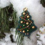 Новогодние брошки из бисера – Восхитительные новогодние броши из бисера — кладезь идей и мастер класс для рукодельниц